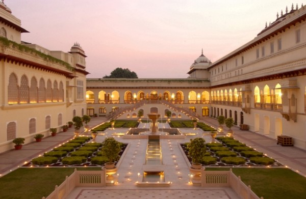 Illuminated Rambagh Palace, Jaipur