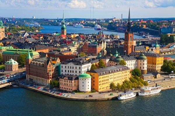 Stockholm City Aerial View Image