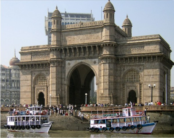 Gateway of India with the Taj as background