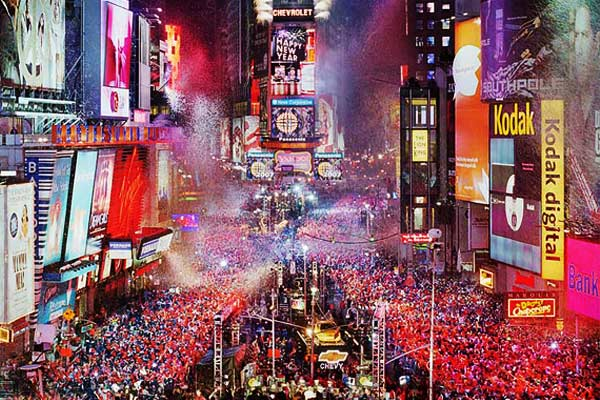 Times Square New York New Year Eve Fireworks