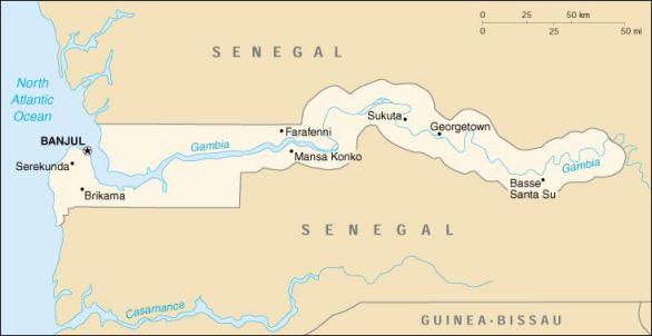 Gambia Senegal Border