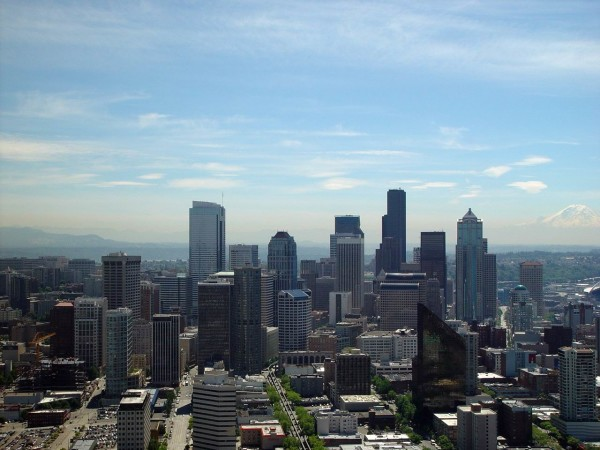 Seattle Skyline Aerial View