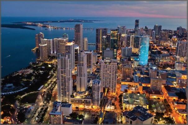 Miami Beach with Skyline