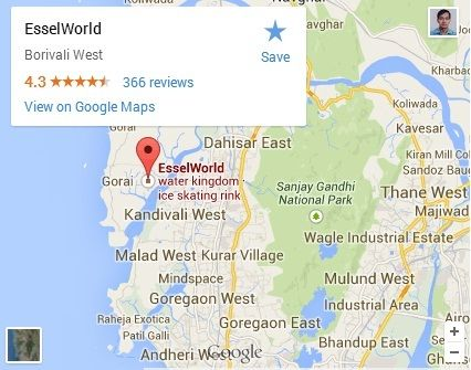 Essel World Route Map