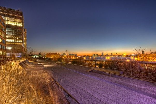 The High Line Sunset in NYC