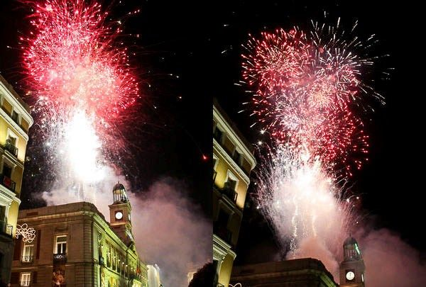 Madrid New Year's Eve Fireworks