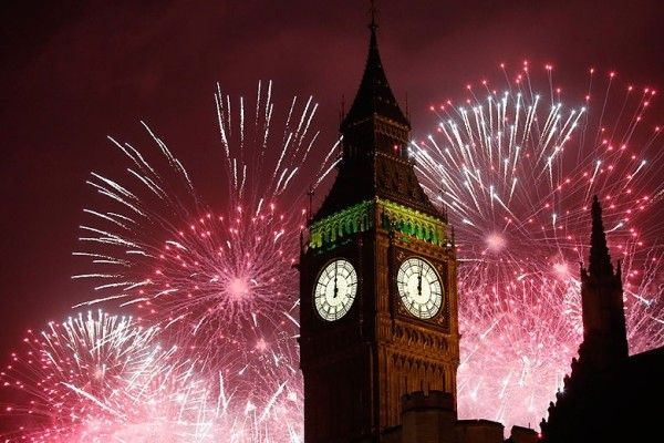 Big Ben London New Years Eve Fireworks