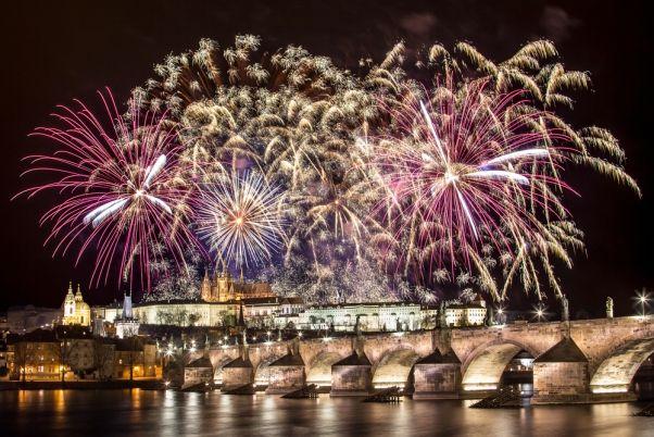 Charles Bridge New Year Eve Fireworks
