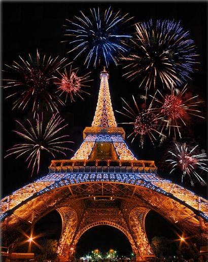 Eiffel Tower New Years Eve Fireworks