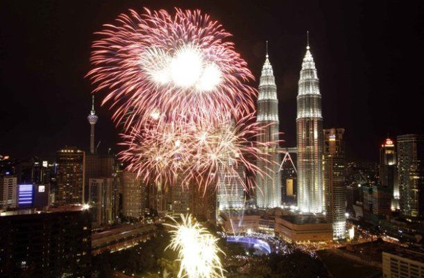 Petronas Towers New Years Eve Fireworks