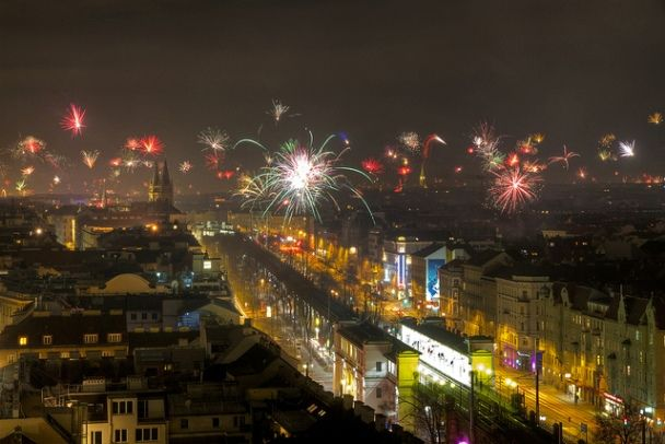 Vienna New Years Eve Fireworks