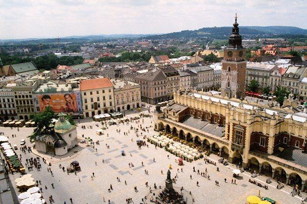 Main Market Square in Krakow, Poland