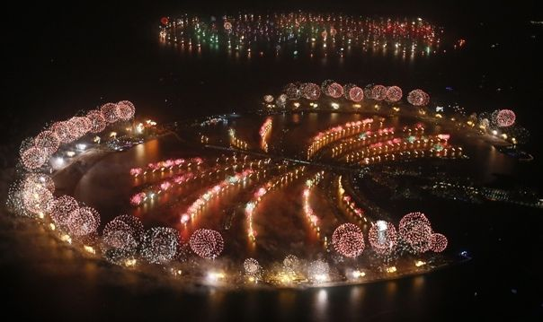 Palm Islands, Dubai New Years Eve Fireworks