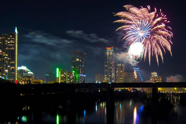 Austin New Years Eve Fireworks