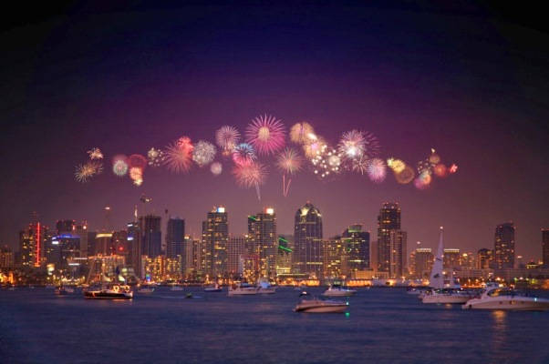 San Diego New Years Eve Fireworks