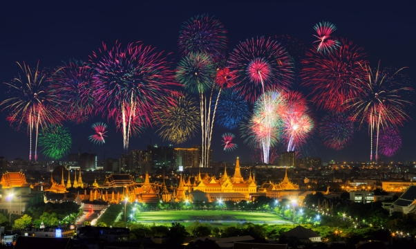 Bangkok New Years Eve Fireworks
