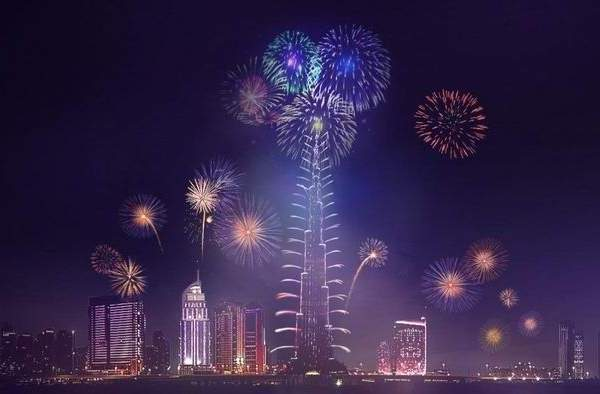 Burj Khalifa New Years Eve Fireworks