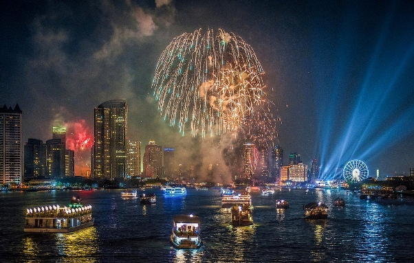 New Years Eve Fireworks in Bangkok