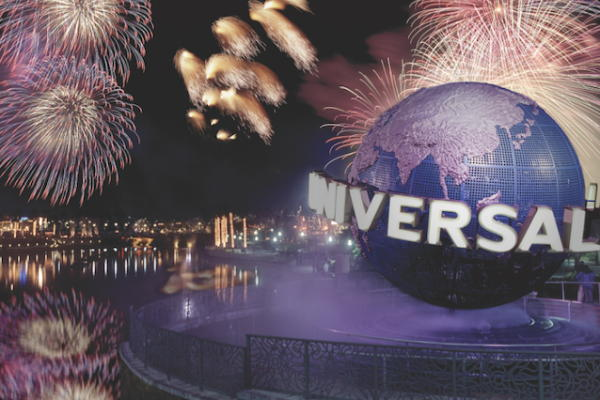 New Year's Eve Fireworks in Universal Studios Singapore