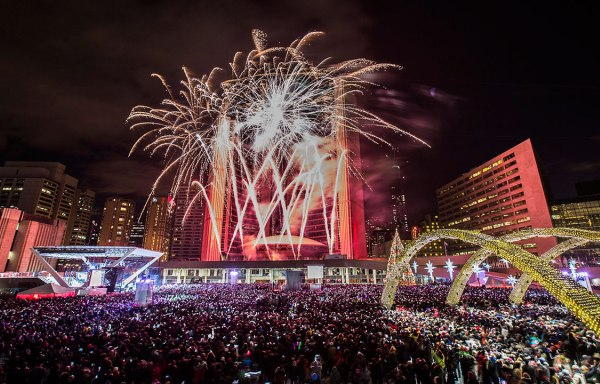 Toronto New Years Eve Fireworks