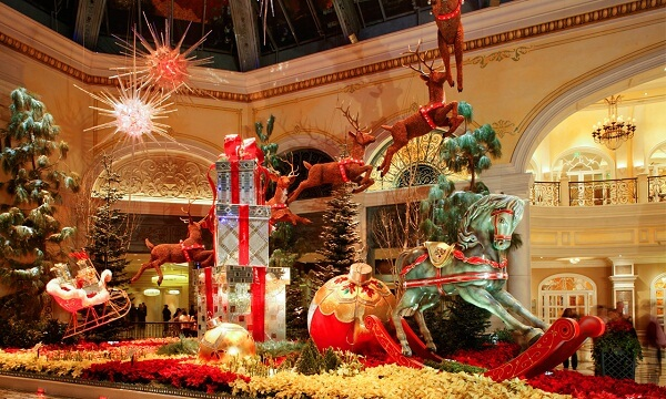 Bellagio Resort & Casino, Las Vegas During Christmas
