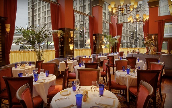 One of the Restaurants in Downtown Chicago