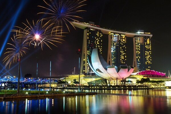 Marina Bay Sands Hotel New Years Eve