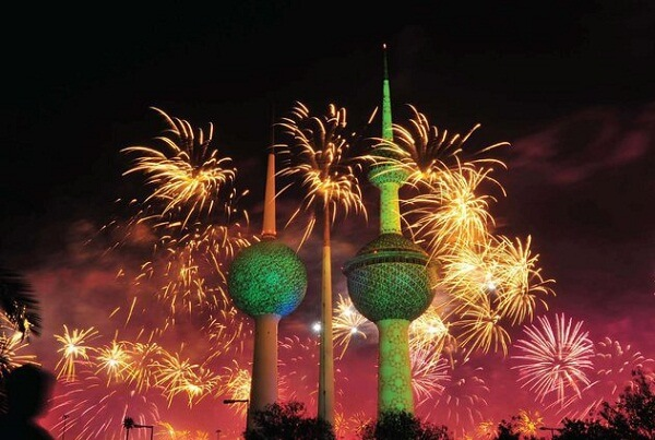 Kuwait City New Years Eve Fireworks