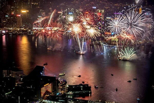 Hong Kong New Years Eve Fireworks