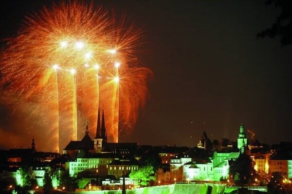 Luxembourg New Years Eve Fireworks