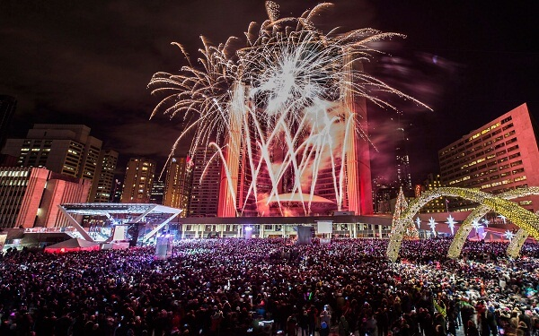 Nathan Phillips Square New Years Eve Fireworks