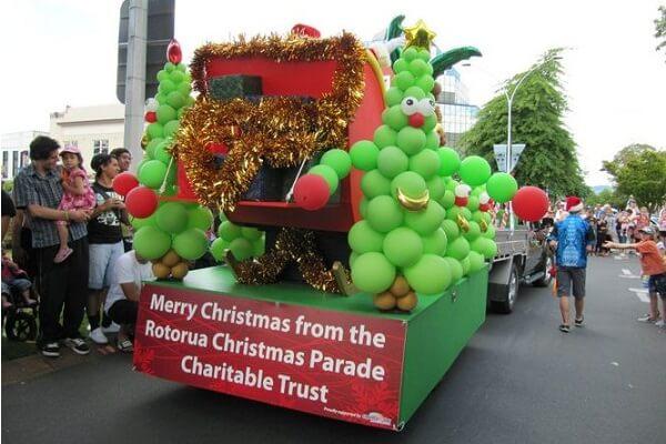 Christmas Parade in Rotorua NZ