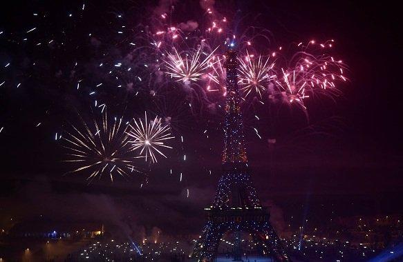 Eiffel Tower New Year Celebration
