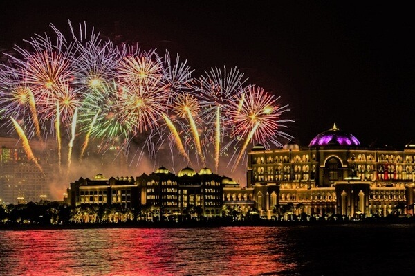 Emirates Palace New Year Fireworks