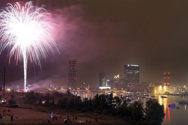 Toledo New Years Eve Fireworks