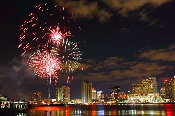 New Orleans New Years Eve Fireworks