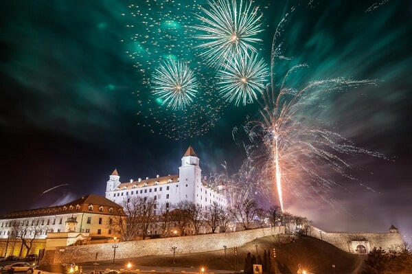 Bratislava New Years Eve Fireworks