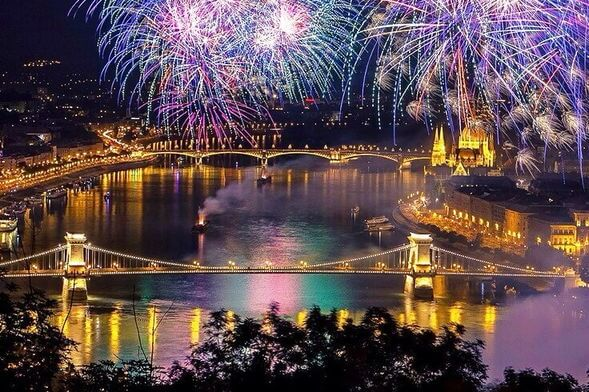 Budapest New Years Fireworks
