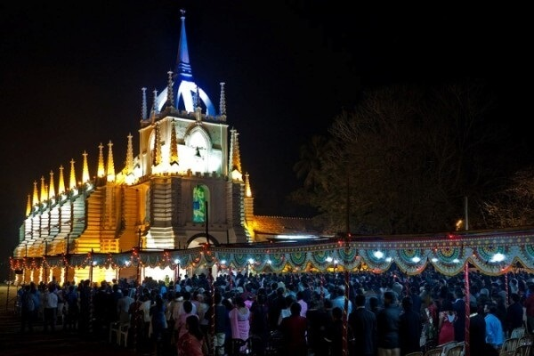 Goa Church During Christmas
