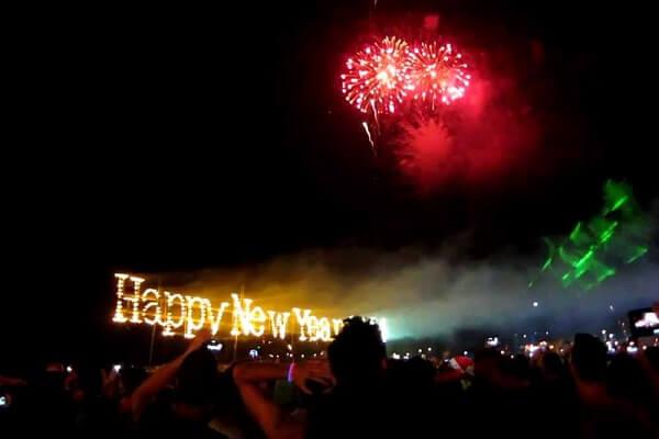 Koh Phangan New Years Fireworks