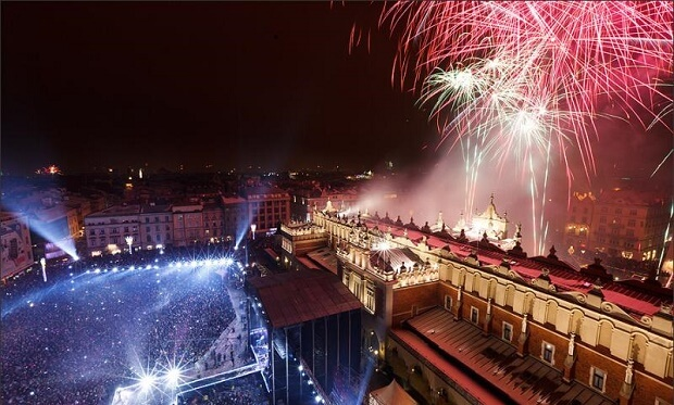 Krakow New Years Fireworks