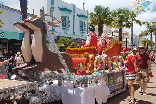 Christmas Parade in Napier NZ
