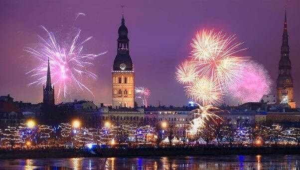 Riga New Year's Fireworks