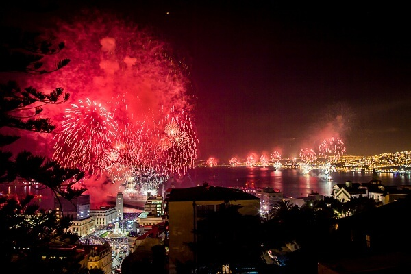 Valparaiso Chile New Years Eve Fireworks