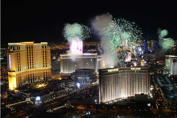 Best NYE Fireworks View from the Trump Hotel Las Vegas