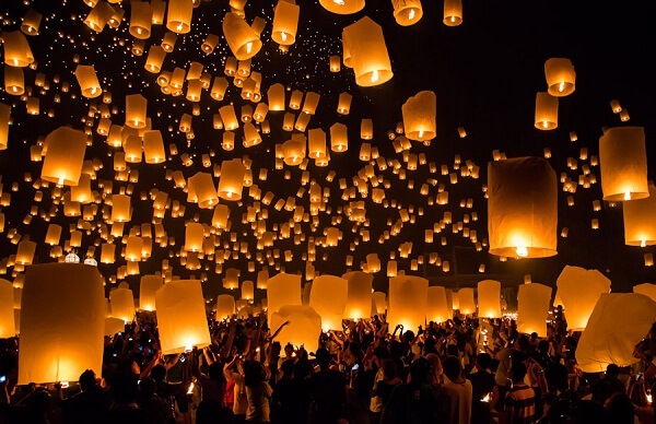 Chiang Mai New Years Eve Lanterns