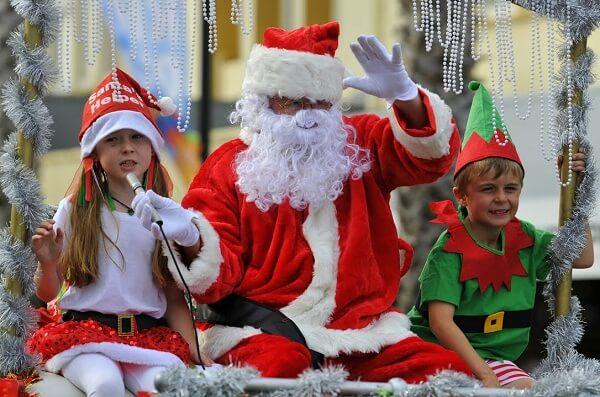 Christmas Parade in Gisborne NZ