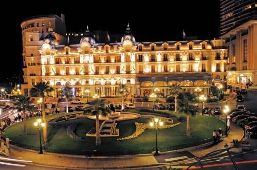 Night View at Hotel de Paris Monaco