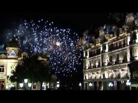 Fireworks View Near Hotel de Paris Monaco