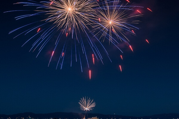 Lake Tahoe New Year Fireworks